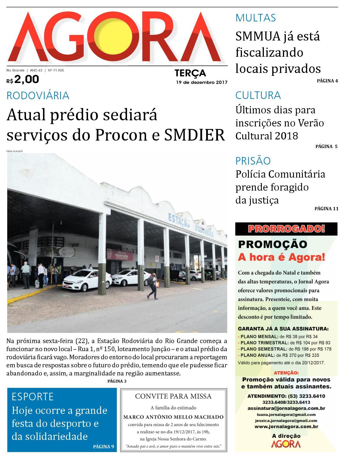 Calaméo - Jornal Agora - Edição 11925 - 19 de Dezembro de 2017 17d2b8993517f