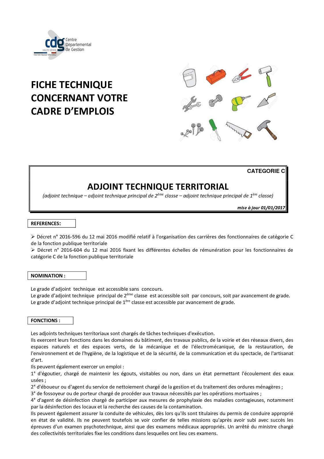 Calameo Adjoint Technique Territoriale Cdg Haute Vienne