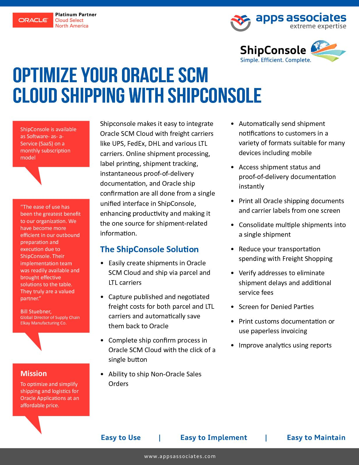 Calaméo - Integration With Oracle Supply Chain Management Cloud