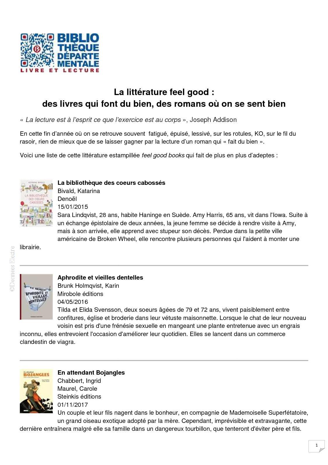 Calameo Selection De Feel Good Books Bibliotheque