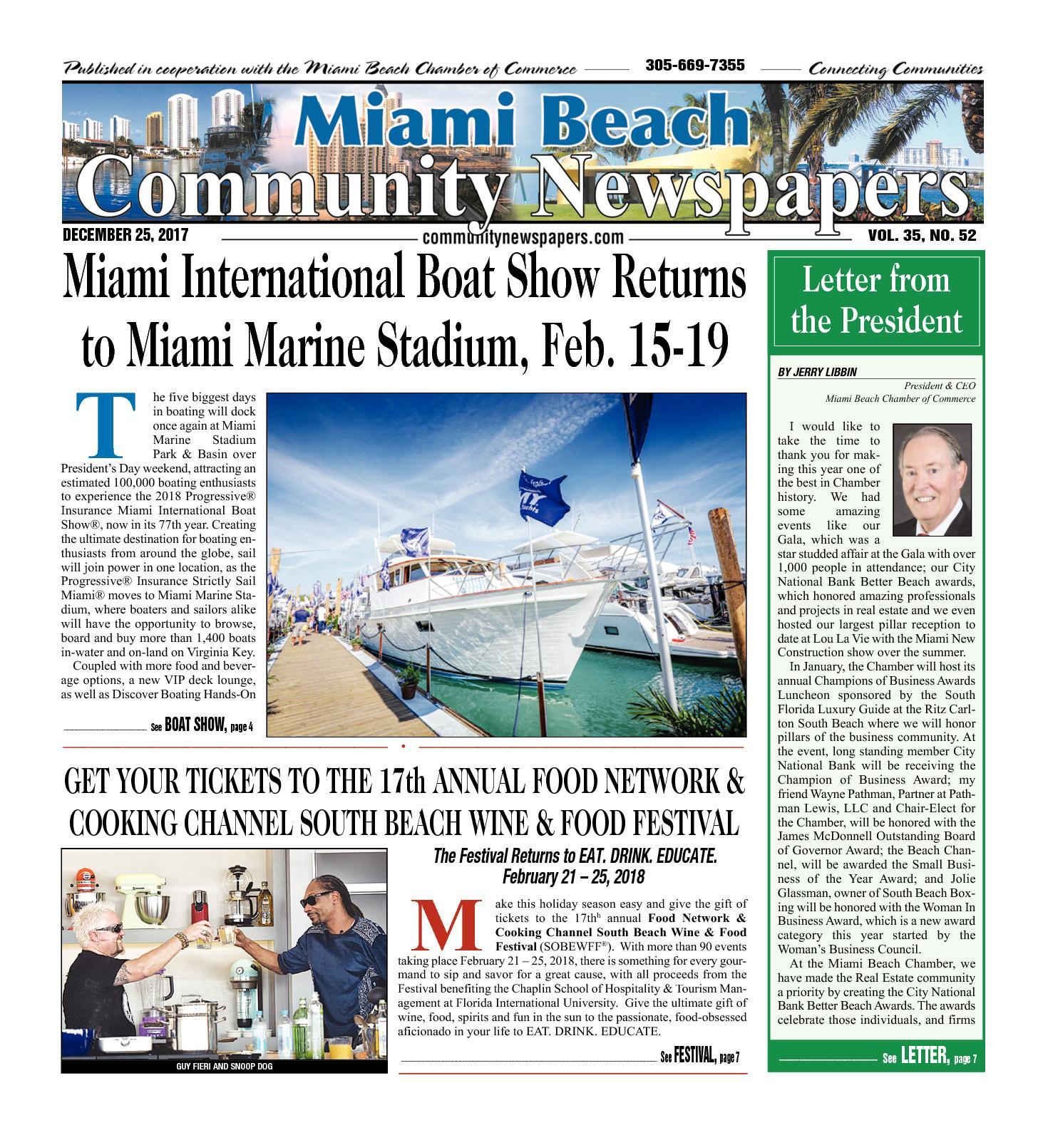 Avis Spa De Nage Clair Azur calaméo - miami beach news 12.25.2017