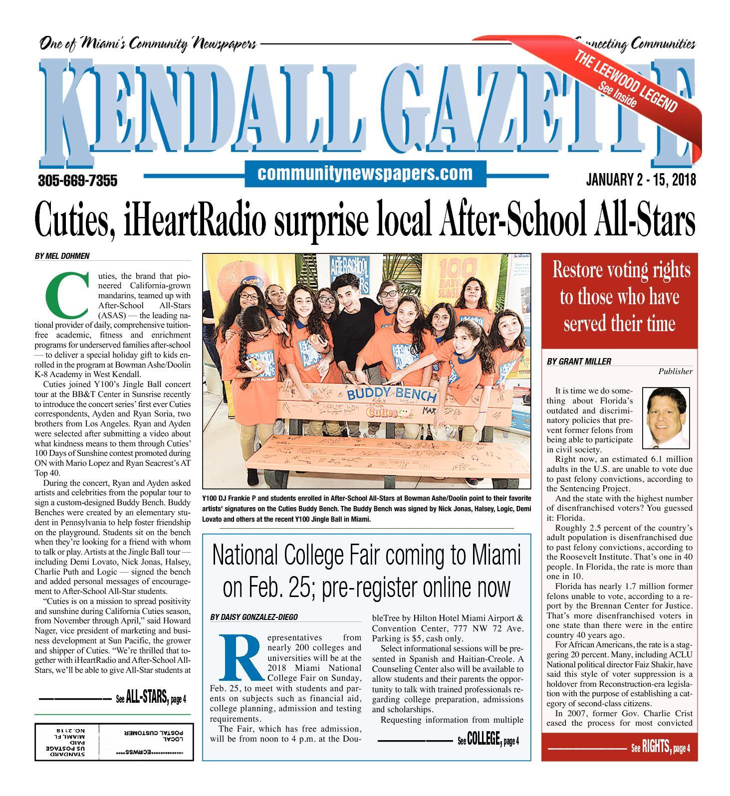 Calaméo - Kendall Gazette 1 2 2018