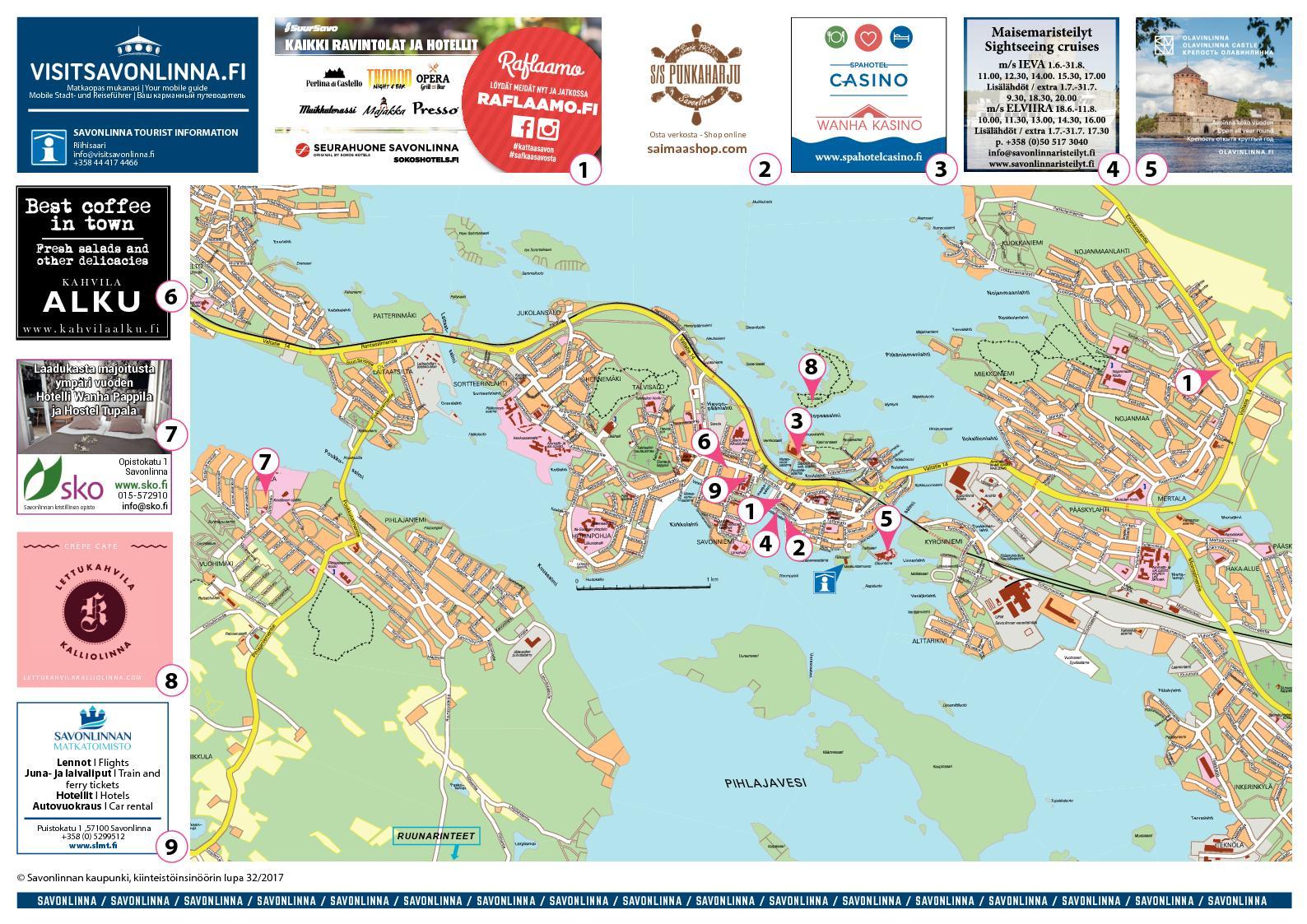 Calameo Savonlinna Kartta Map