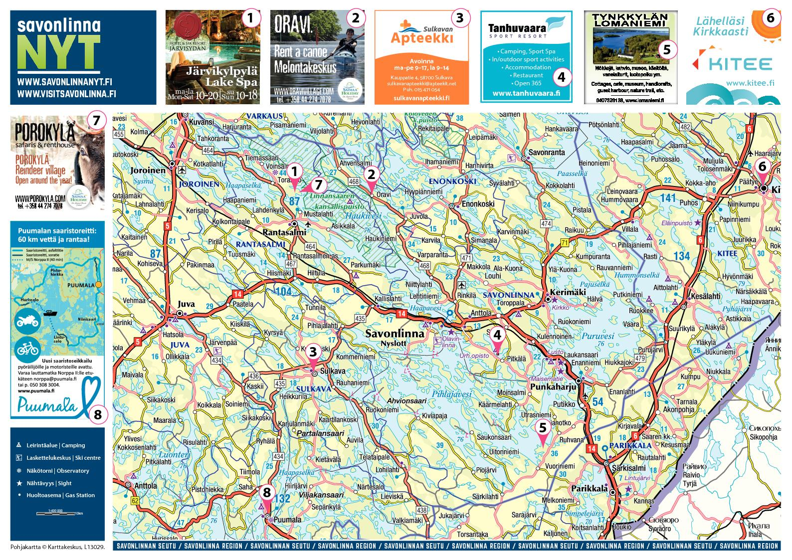 Savonlinna Kartta Map Calameo Downloader