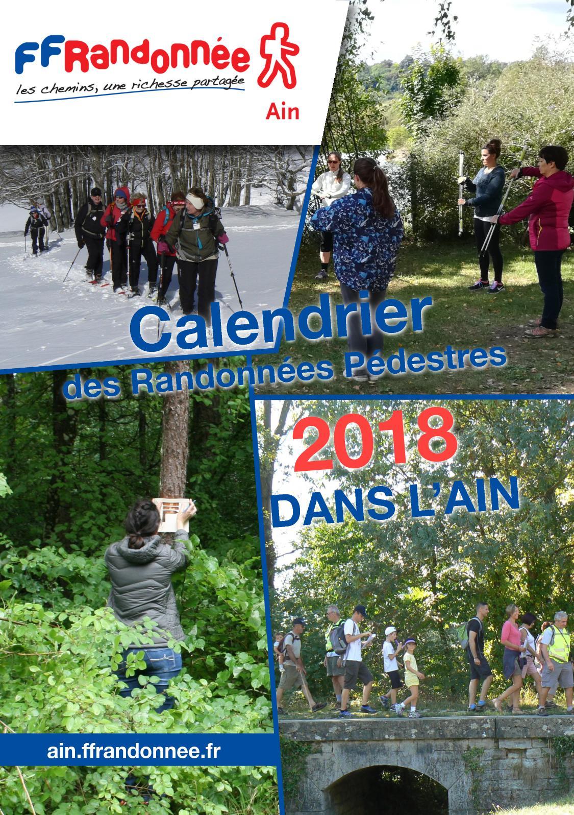 Calendrier Marche Populaire Haute Saone.Calameo Calendrier 2018 Des Randonnees Pedestres De L Ain
