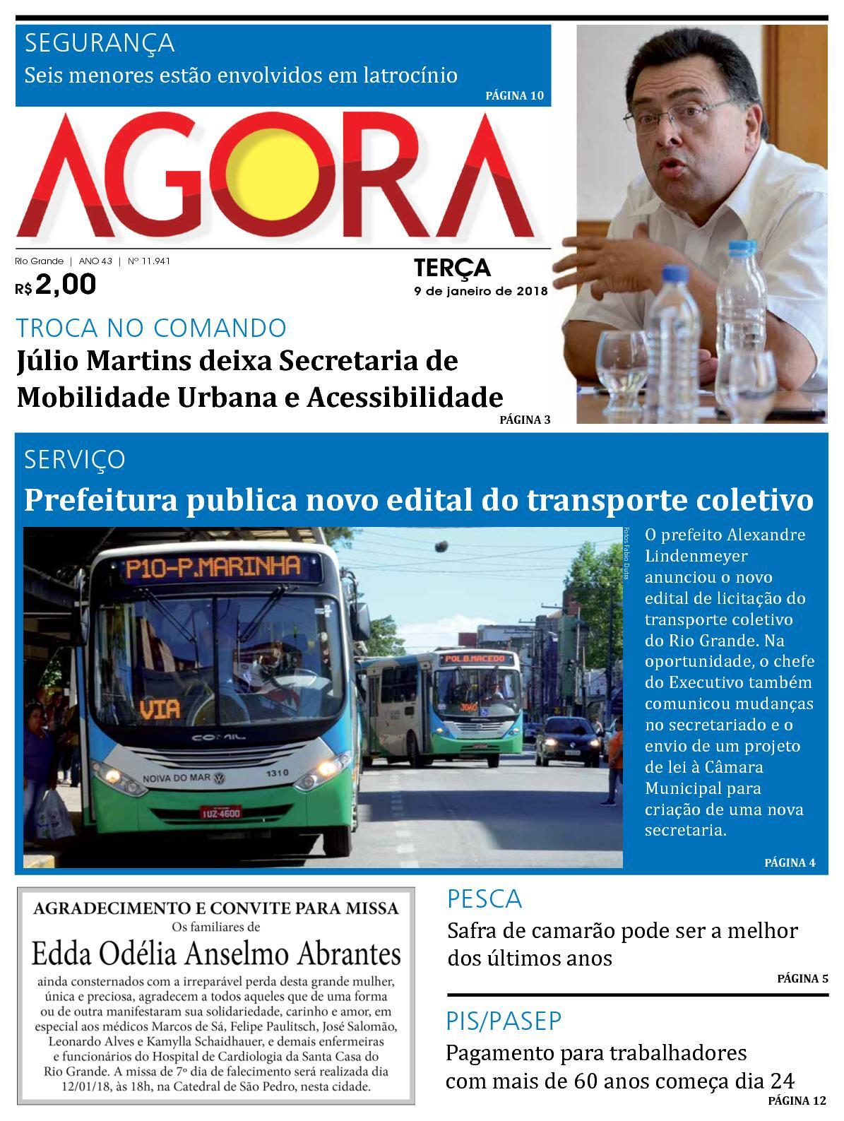 dcc790d346 Calaméo - Jornal Agora - Edição 11941 - 9 de Janeiro de 2018