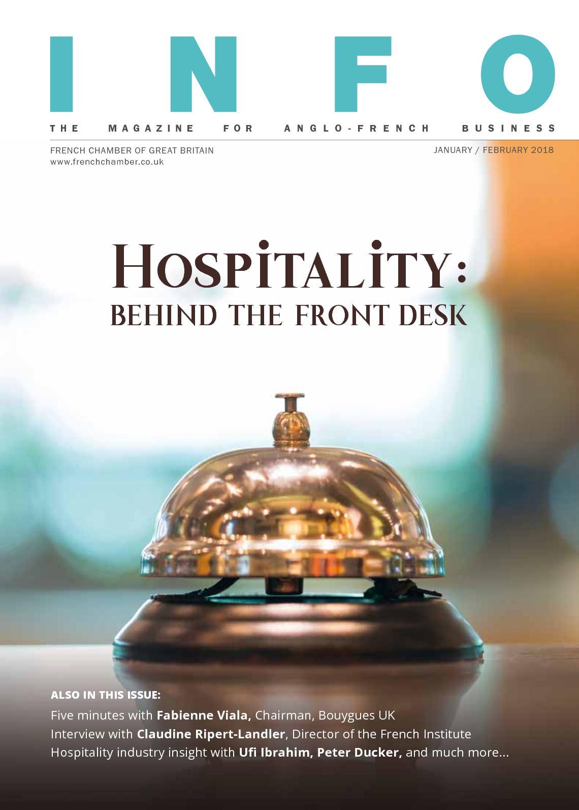 Calameo Info Magazine Hospitality Nov Dec2018