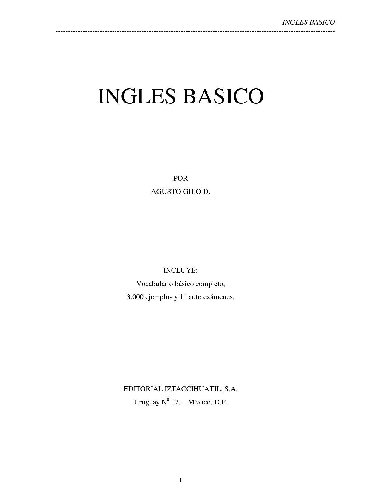 Ingles Basico Augusto Ghio Epub