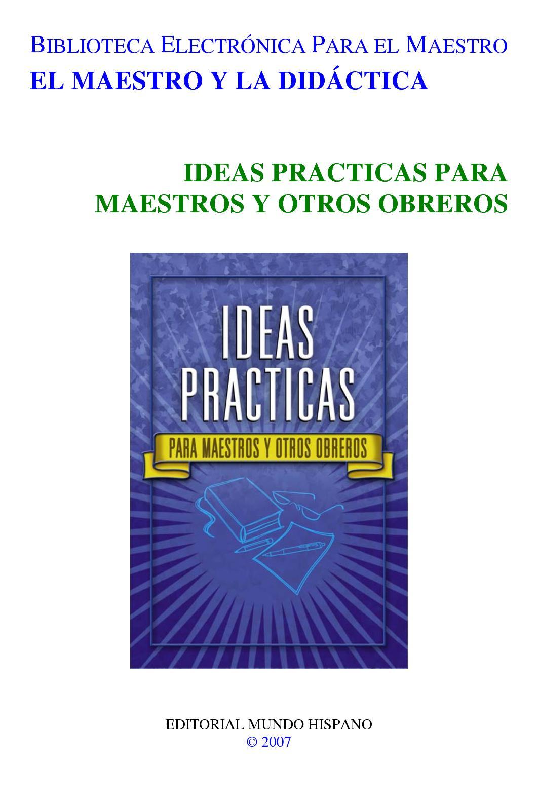 Calaméo Ideas Prácticas Para Maestros Y Obreros Cristianos