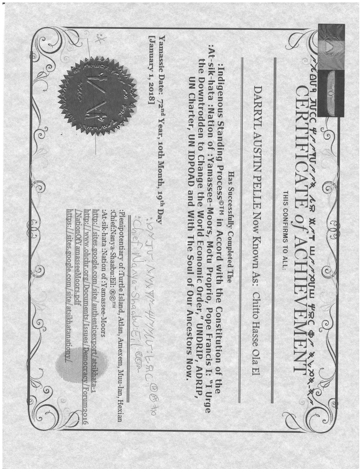 Calaméo - Certificate Of Achievement for Chitto Hasse Ola El