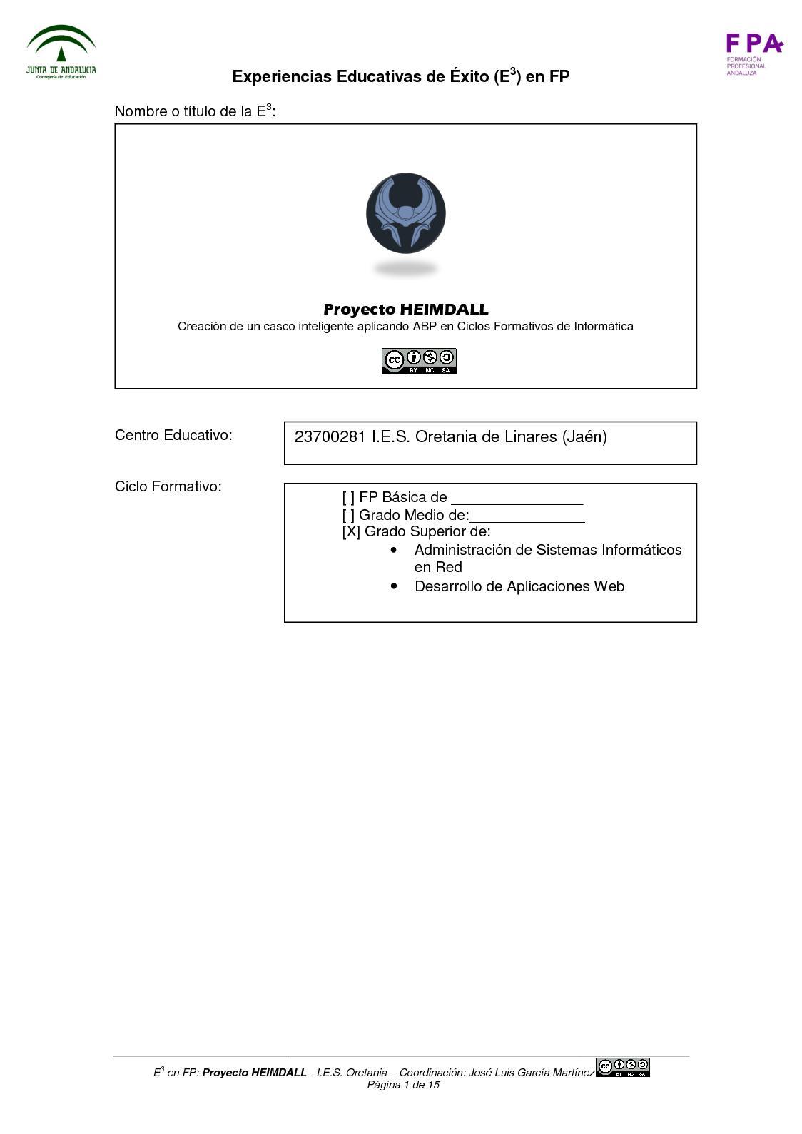 Calaméo Ficha Experiencia Educativa Proyecto Heimdall Abp