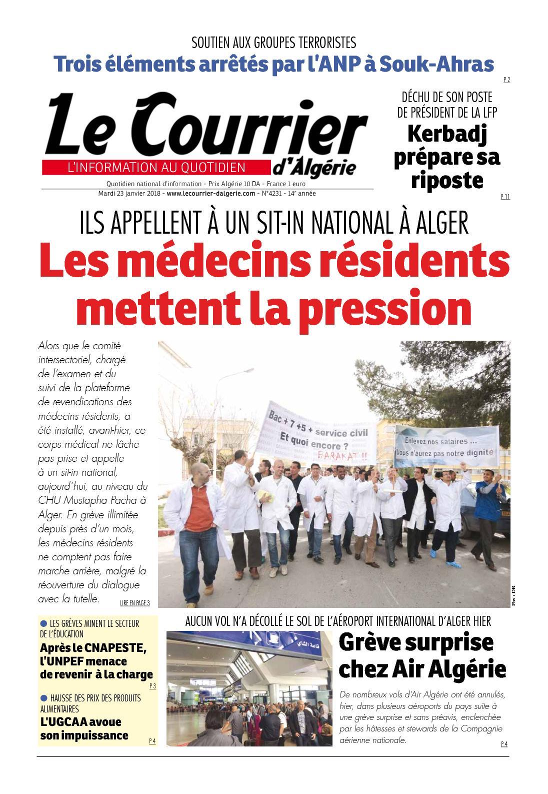 Calaméo - Le Courrier D Algérie Du Mardi 23 Janvier 2018 c6db04ca8a9
