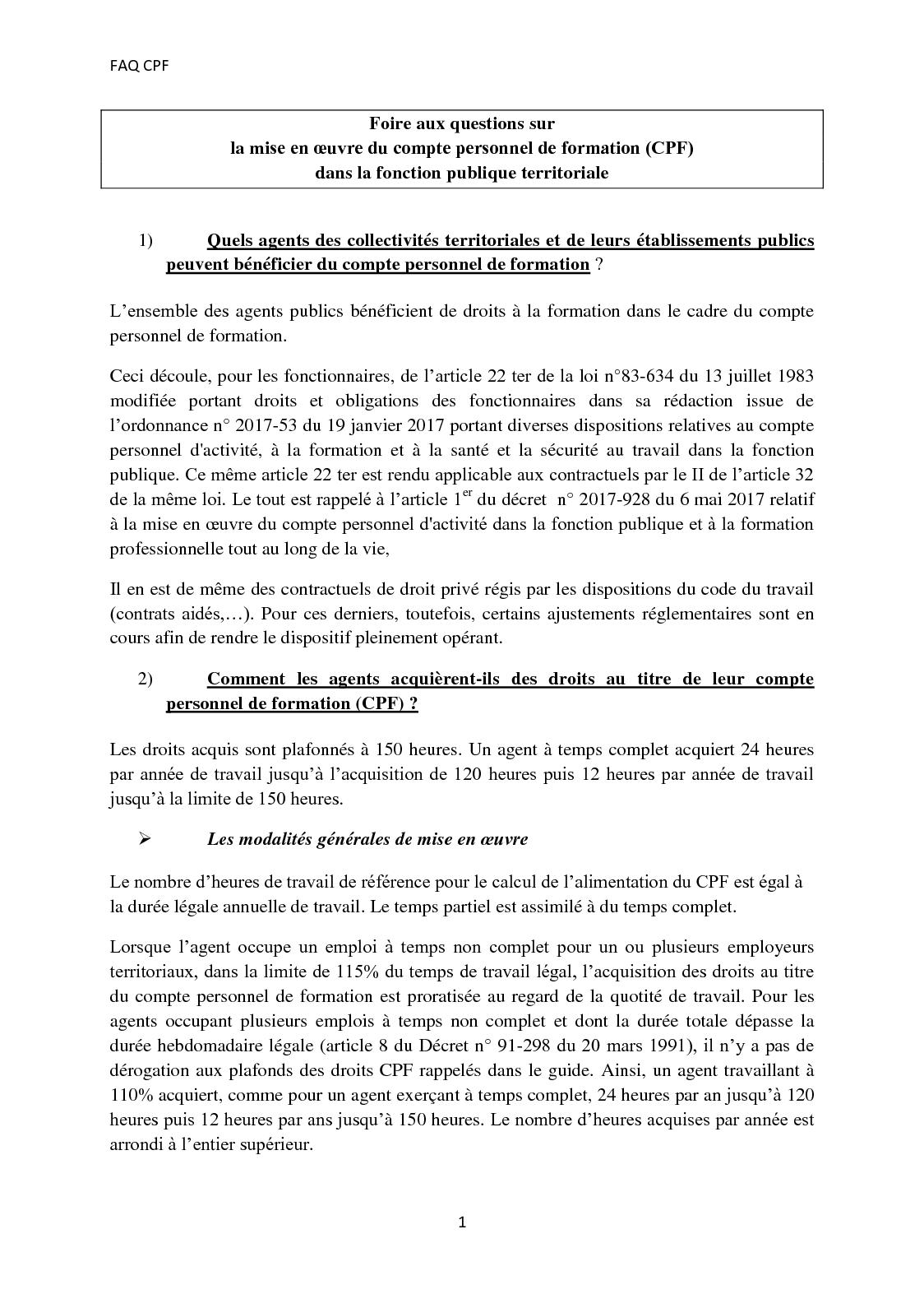 Calameo Faq Cfp Fonction Publique Territorriale