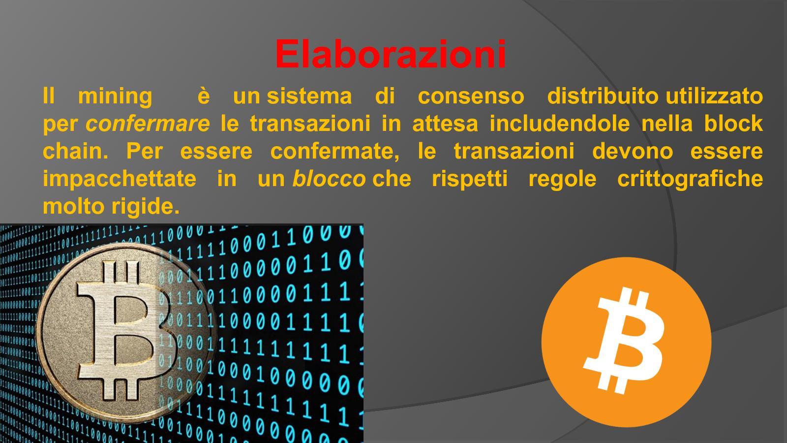 bitcoin sistema distribuito