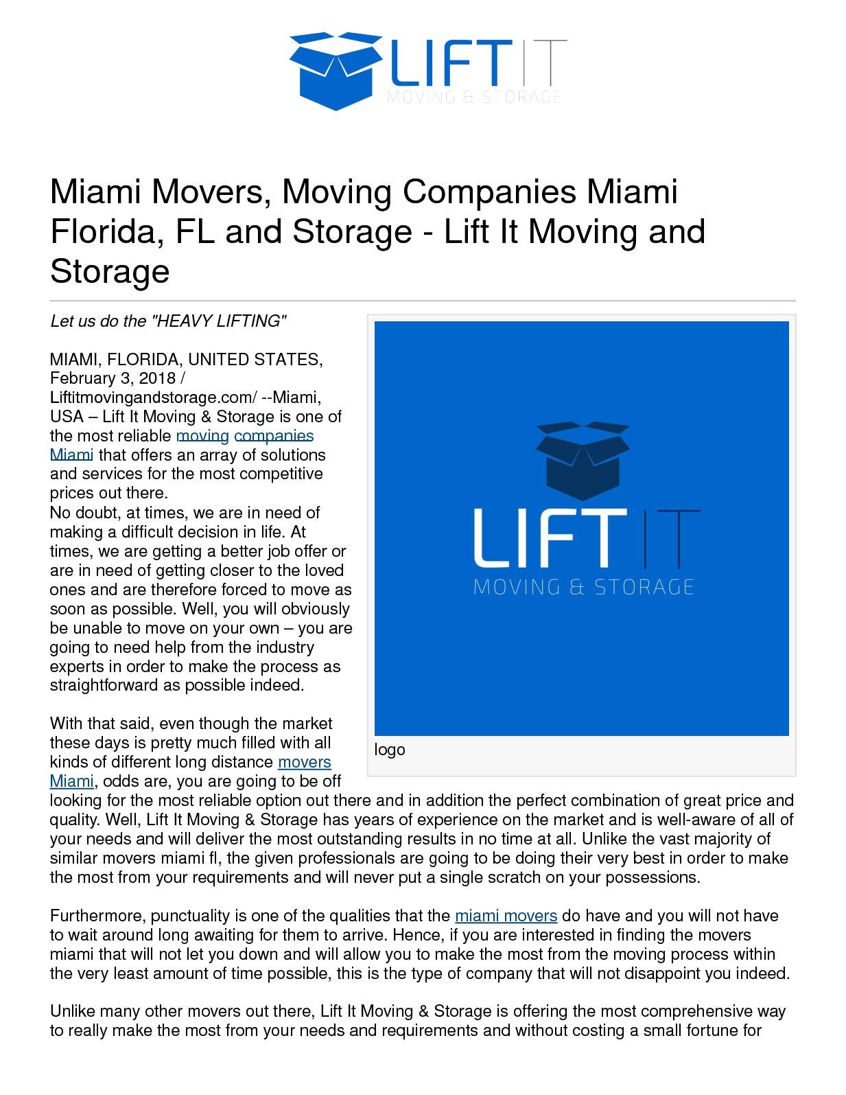 Moving And Storage Companies >> Calameo Miami Movers Moving Companies Miami Florida Fl And