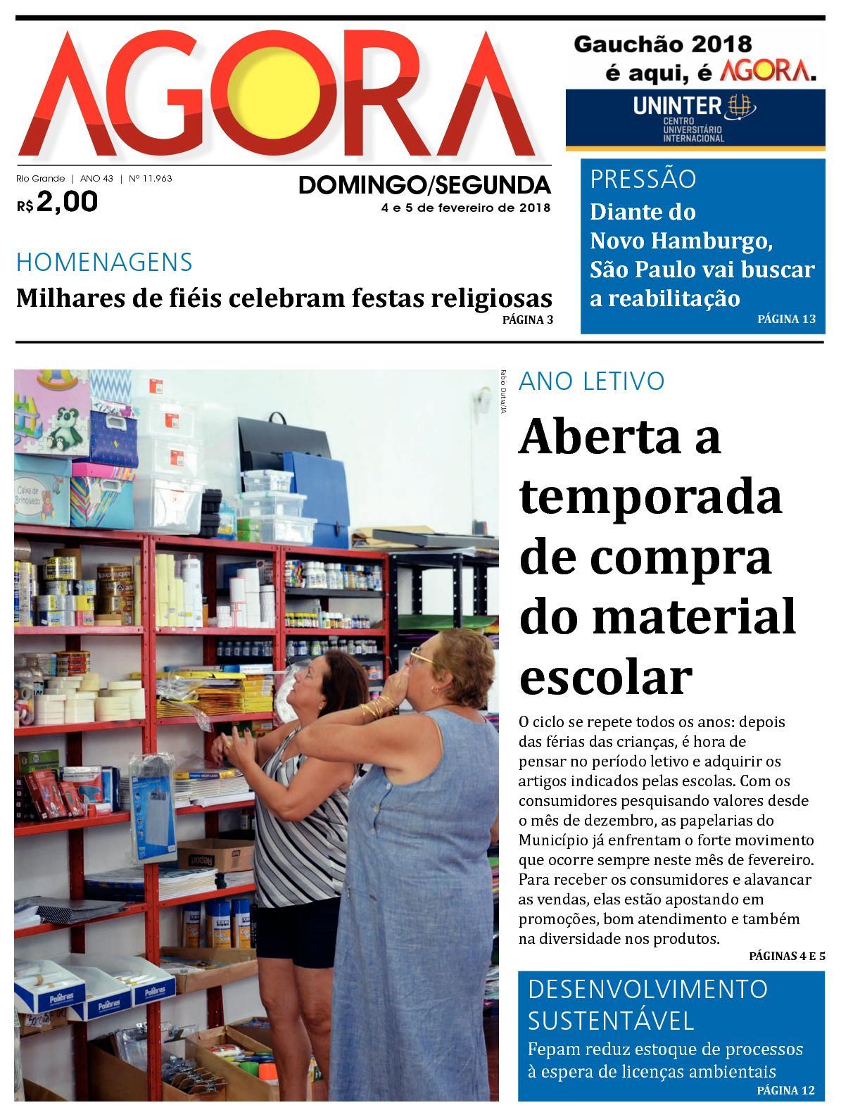 bd395404d2cc Calaméo - Jornal Agora - Edição 11963 - 4 e 5 de Fevereiro de 2018
