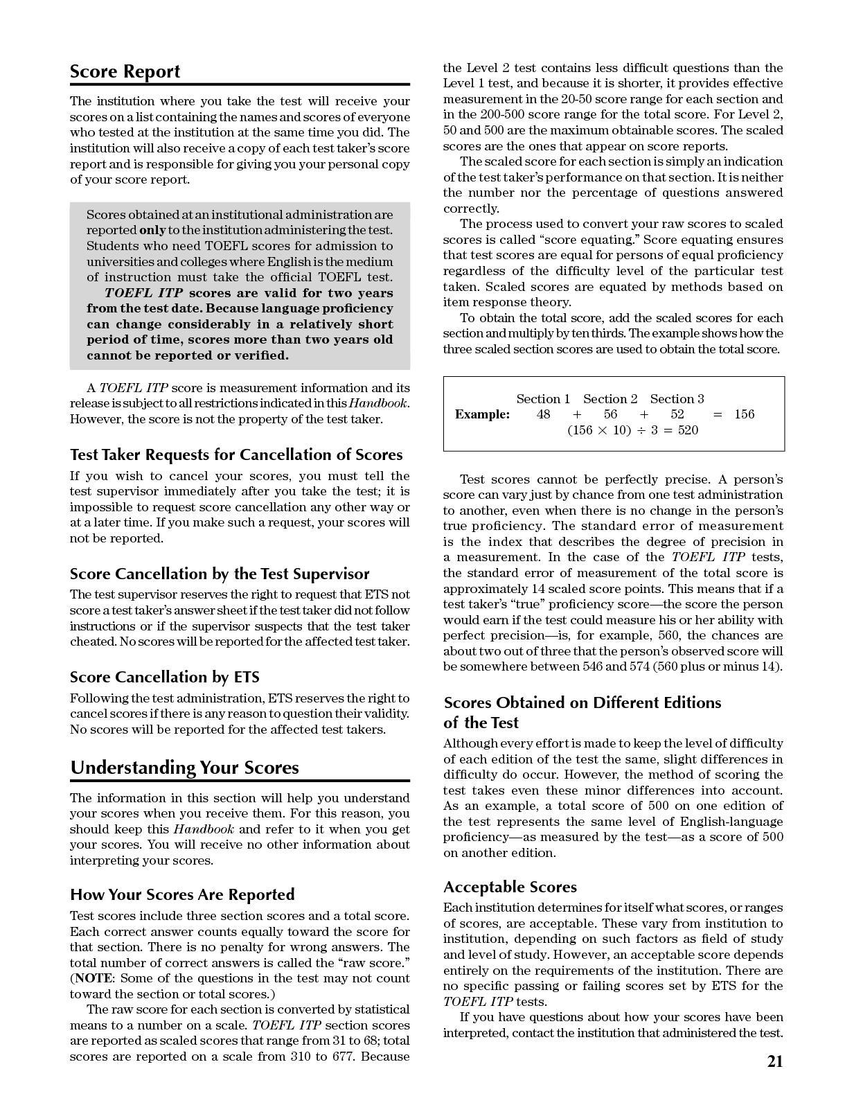 Toefl Itp Test Taker Handbook - CALAMEO Downloader