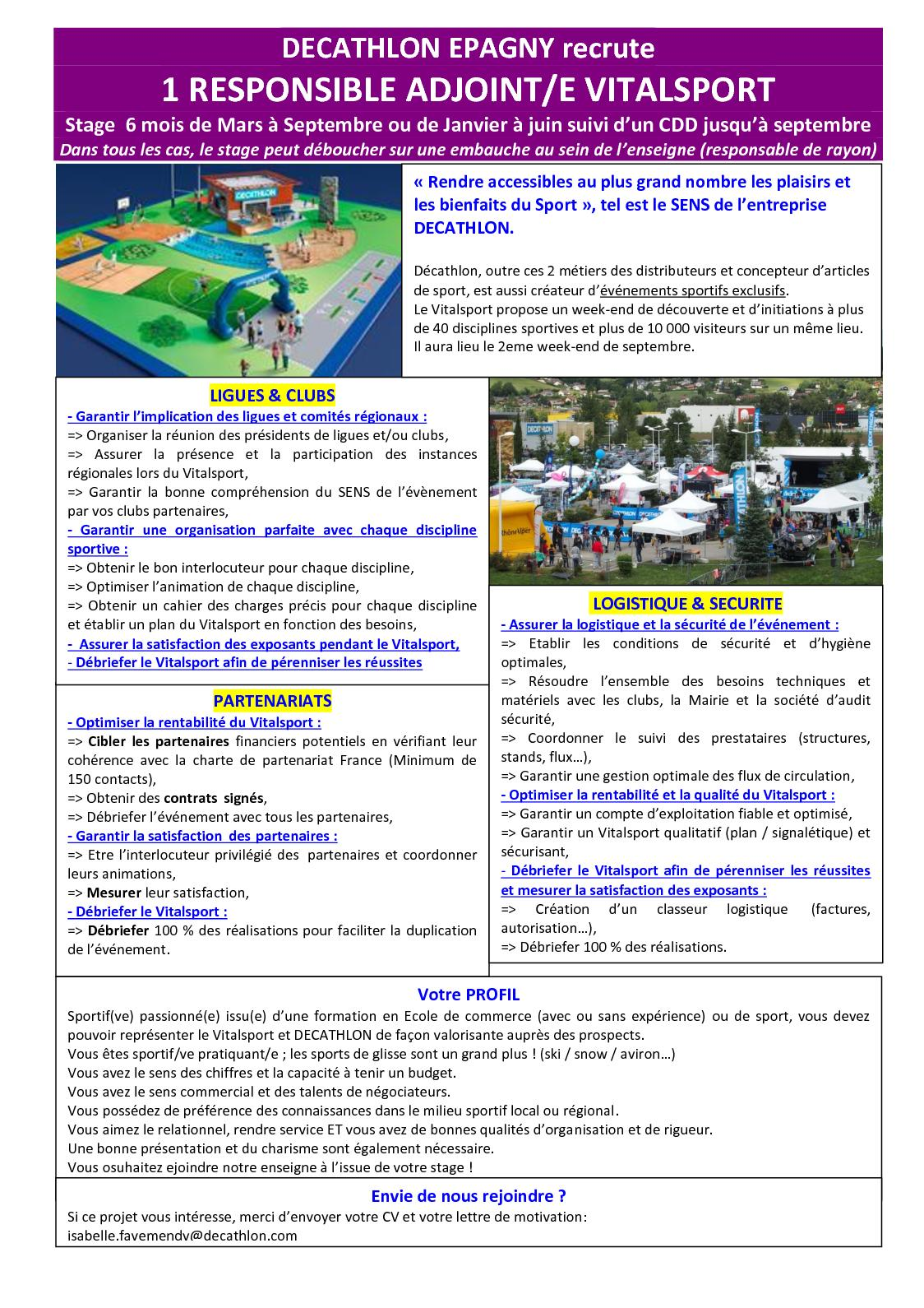 Calaméo 07 02 18 Stage Cdd Vitalsport Decathlon Epagny