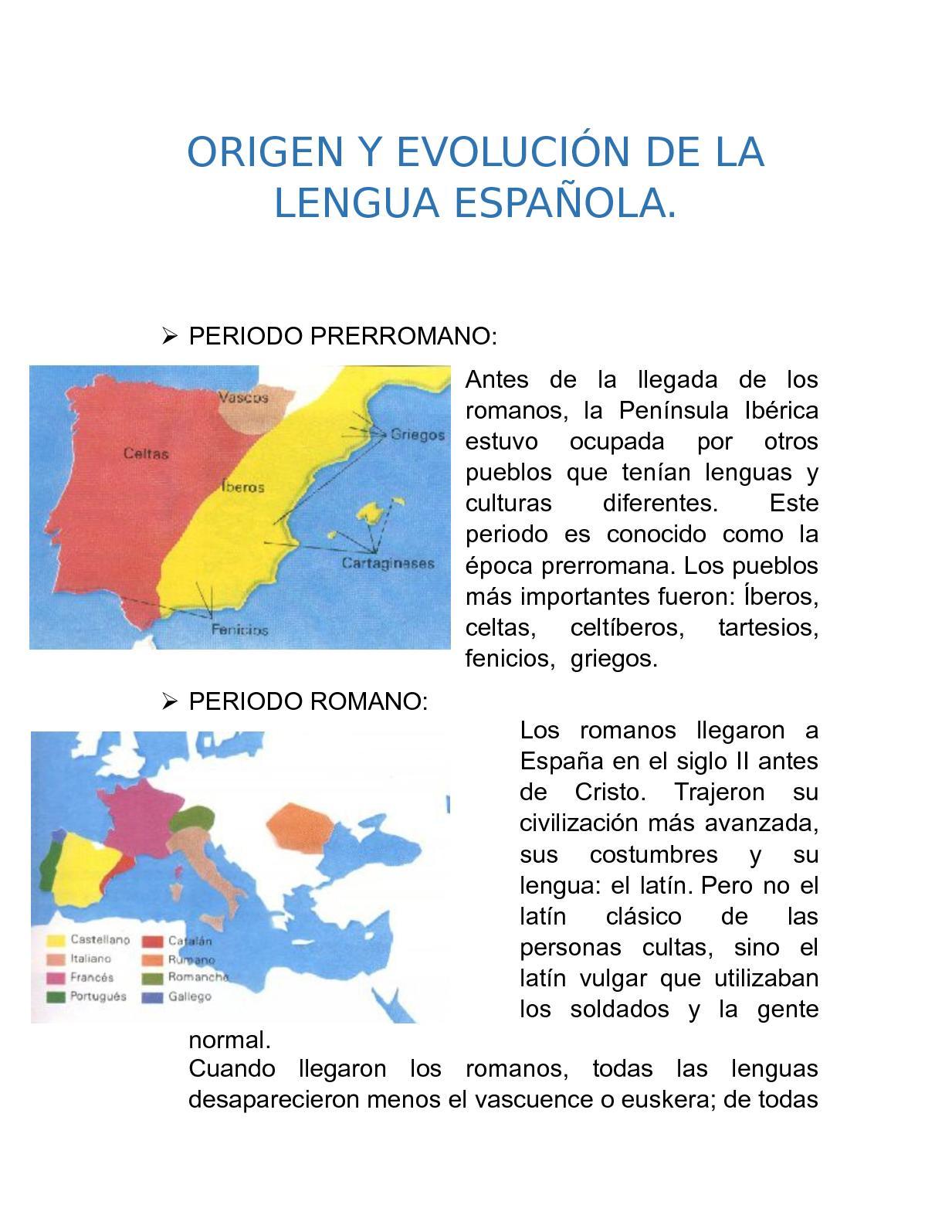 el origen de lengua española