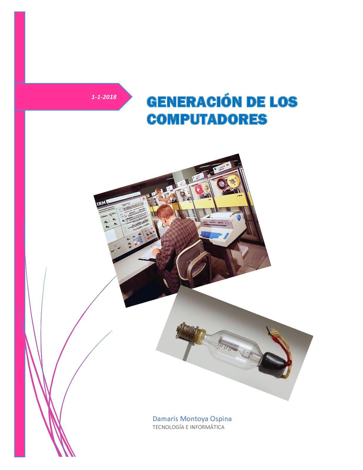 Generación De Los Computadores