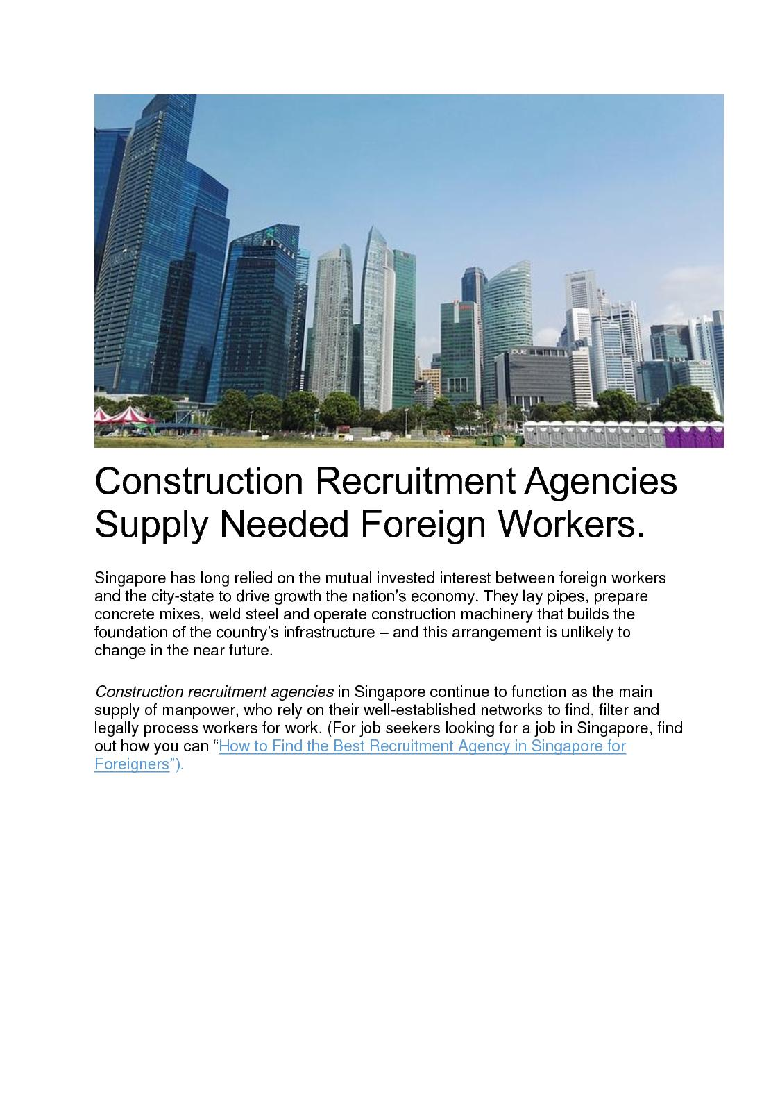 Calaméo - Construction Recruitment Agencies Supply Needed