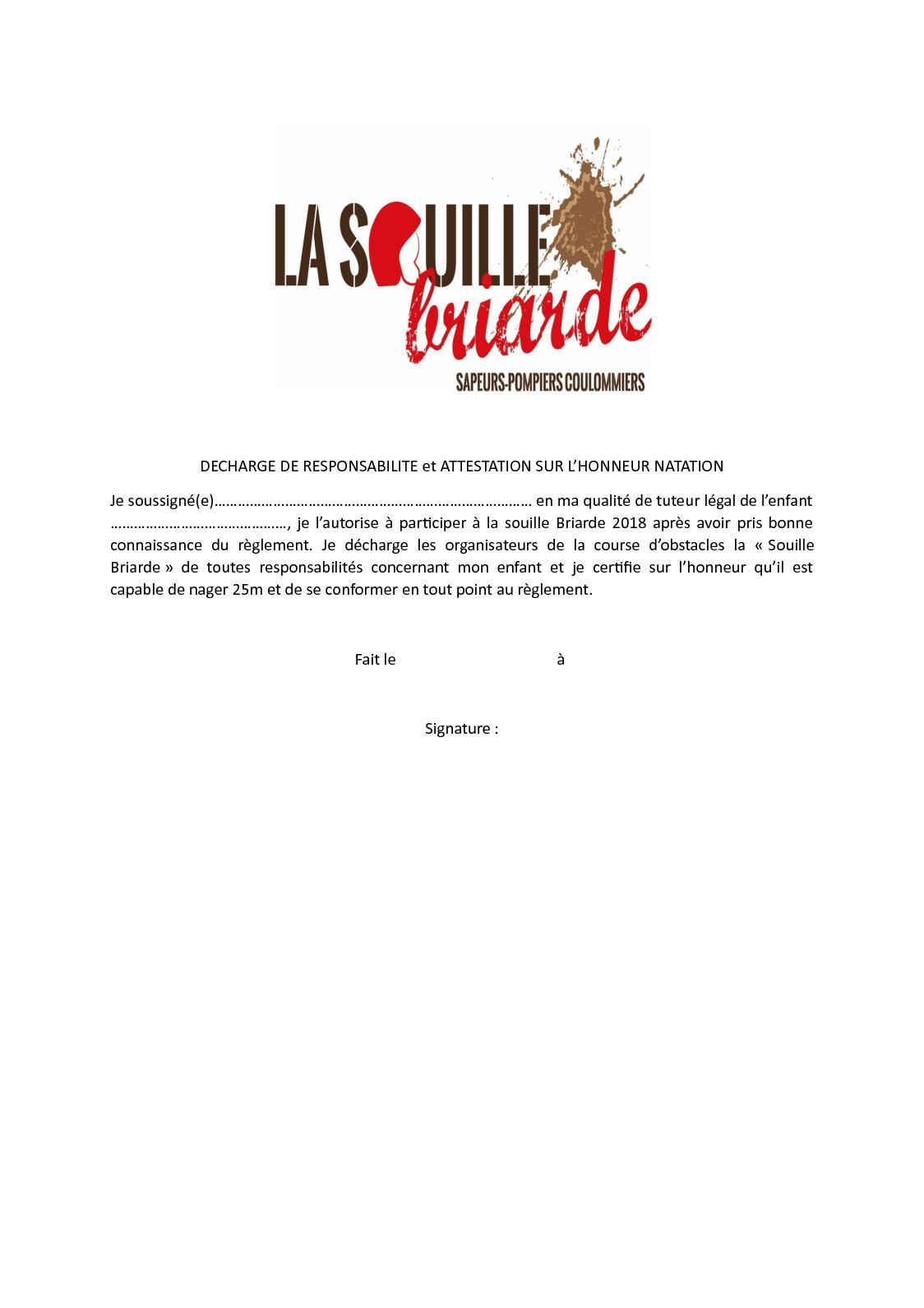 Calameo Decharge De Responsabilite Mineur Souille 2018