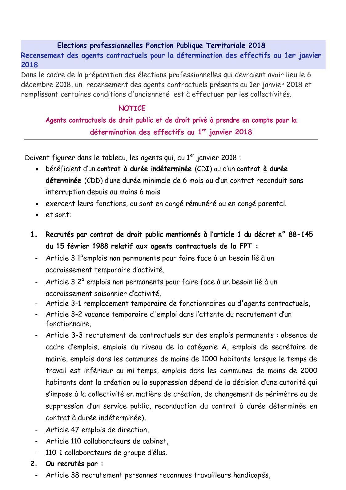 Calameo Notice Recencement Effectifs C Elections Professionnelles