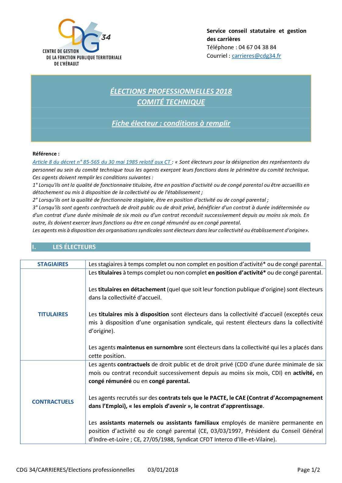 Calameo Elections Profs Fpt 2018fiche Electeur Ct