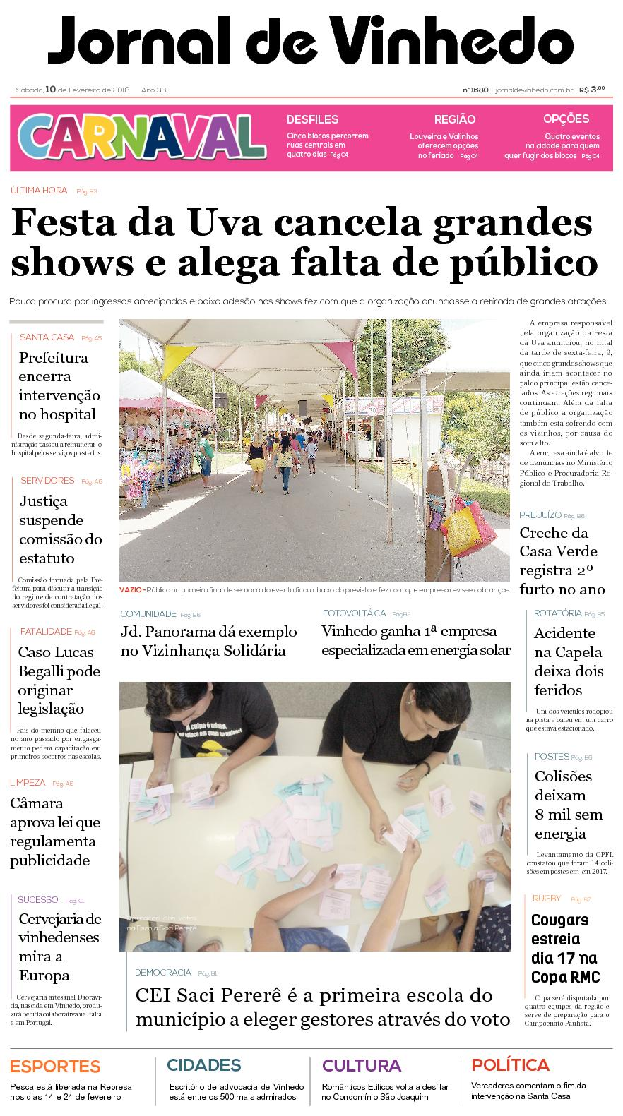 0863594725 Calaméo - Jornal De Vinhedo Sabado 10 De Fevereiro De 2018 Edic1680