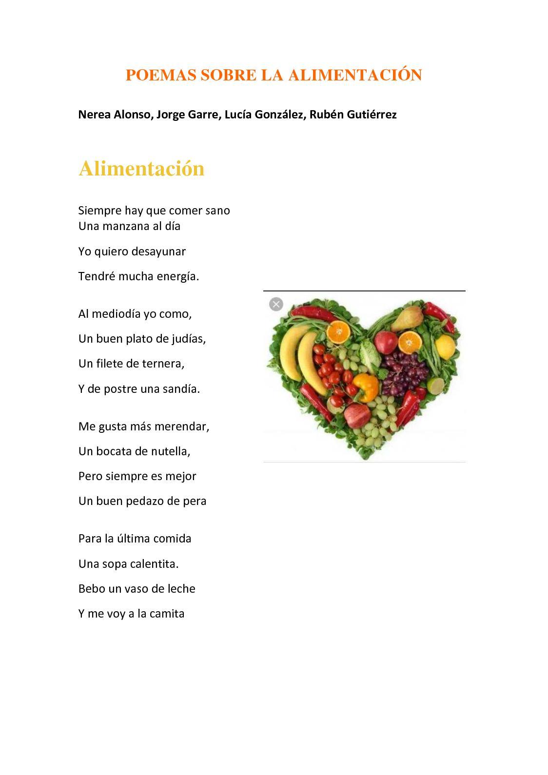 Calaméo Poemas De La Alimentación