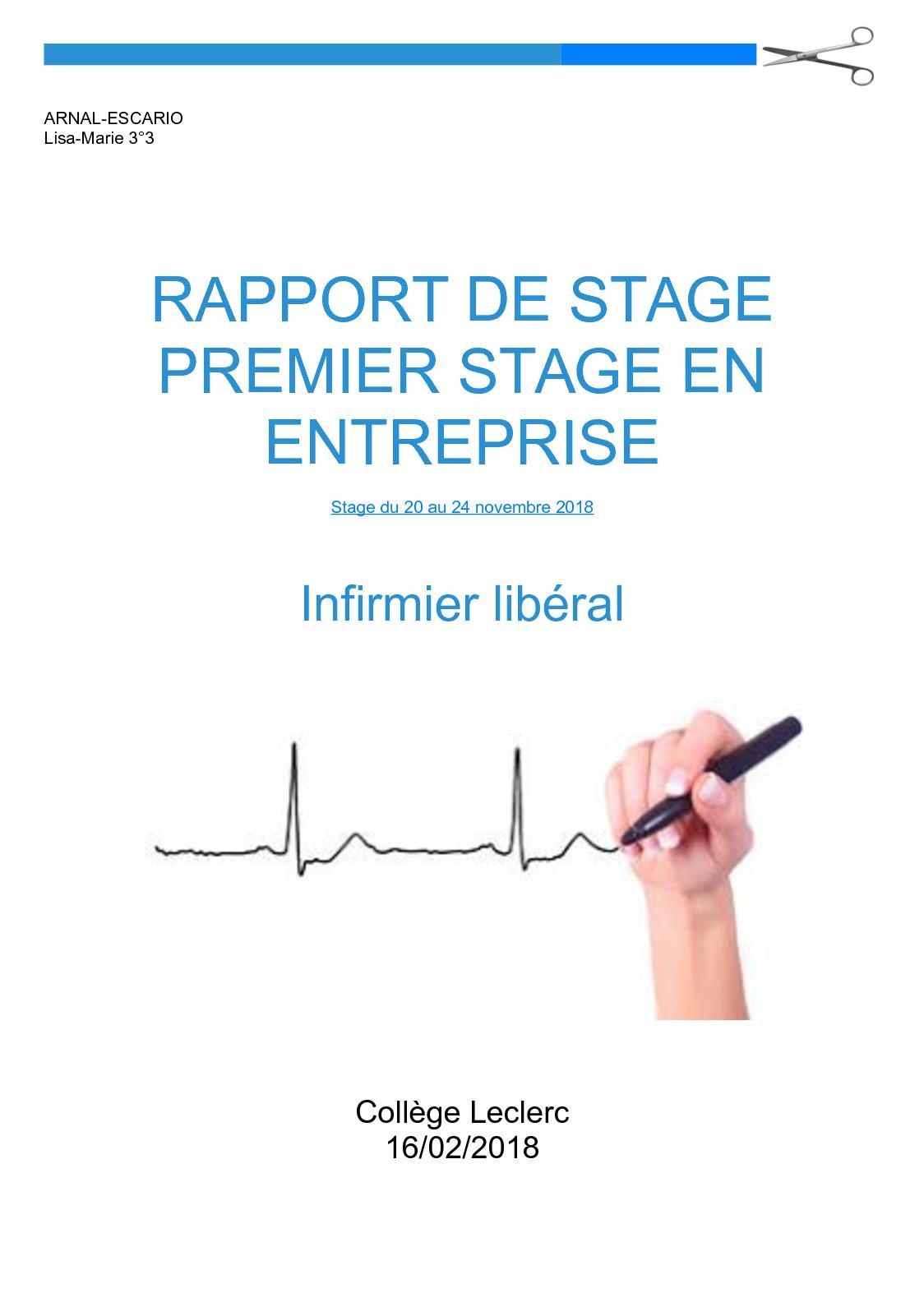 Lettre De Remerciement Pour Rapport De Stage 3eme ...