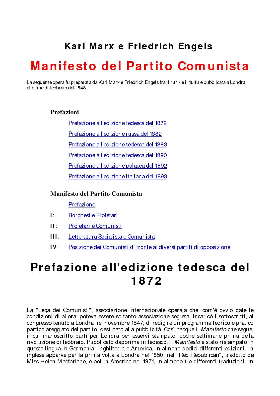 Calaméo Karl Marx E Friedrich Engels Manifesto Del