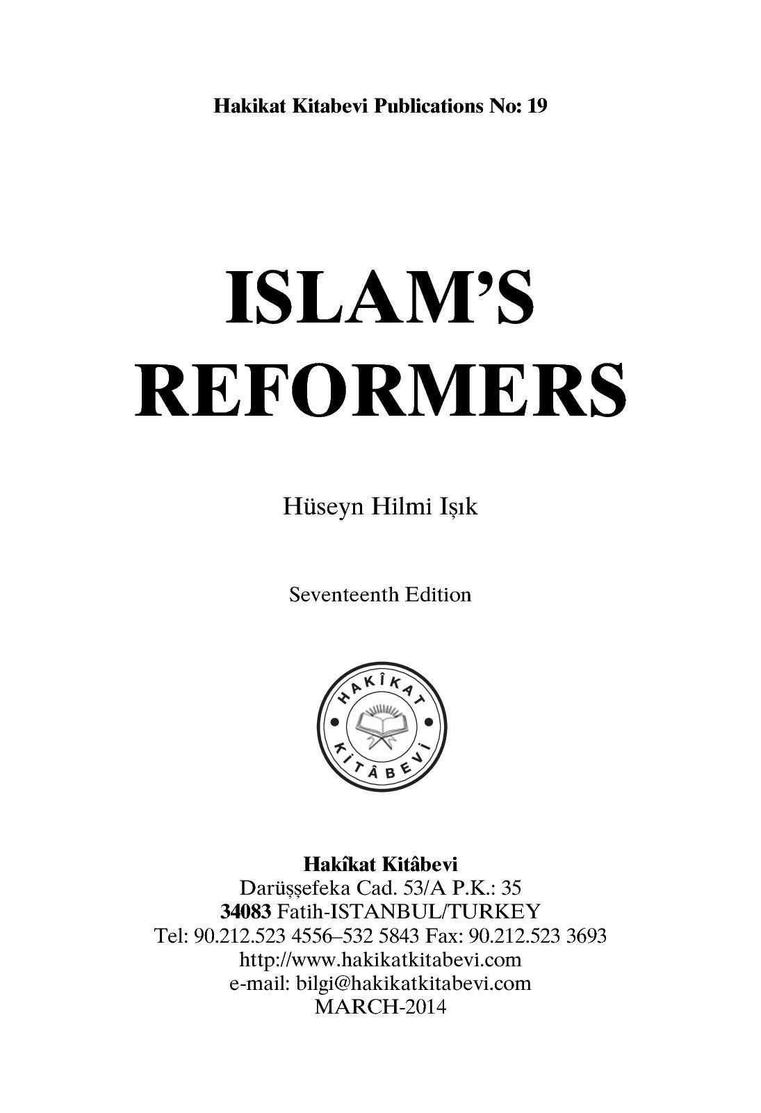 Calaméo - Islam's Reformers