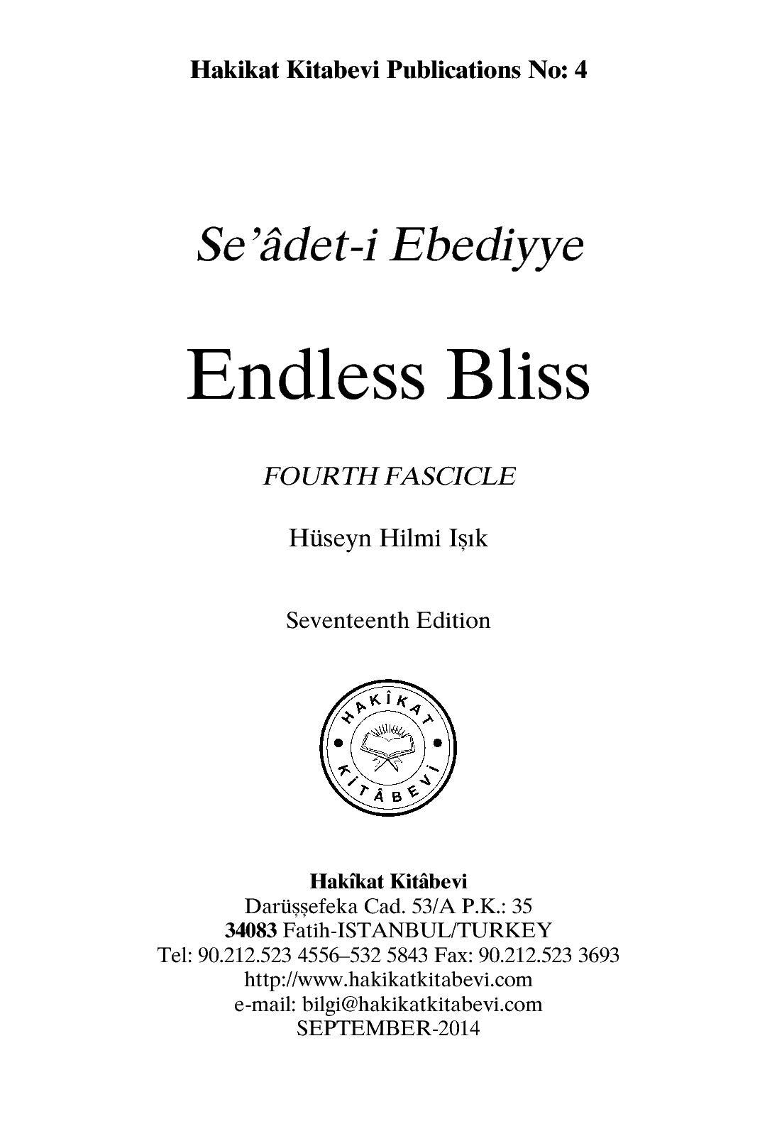 Calaméo - Seadet I Ebediyye - Endless Bliss Fourth Fascicle