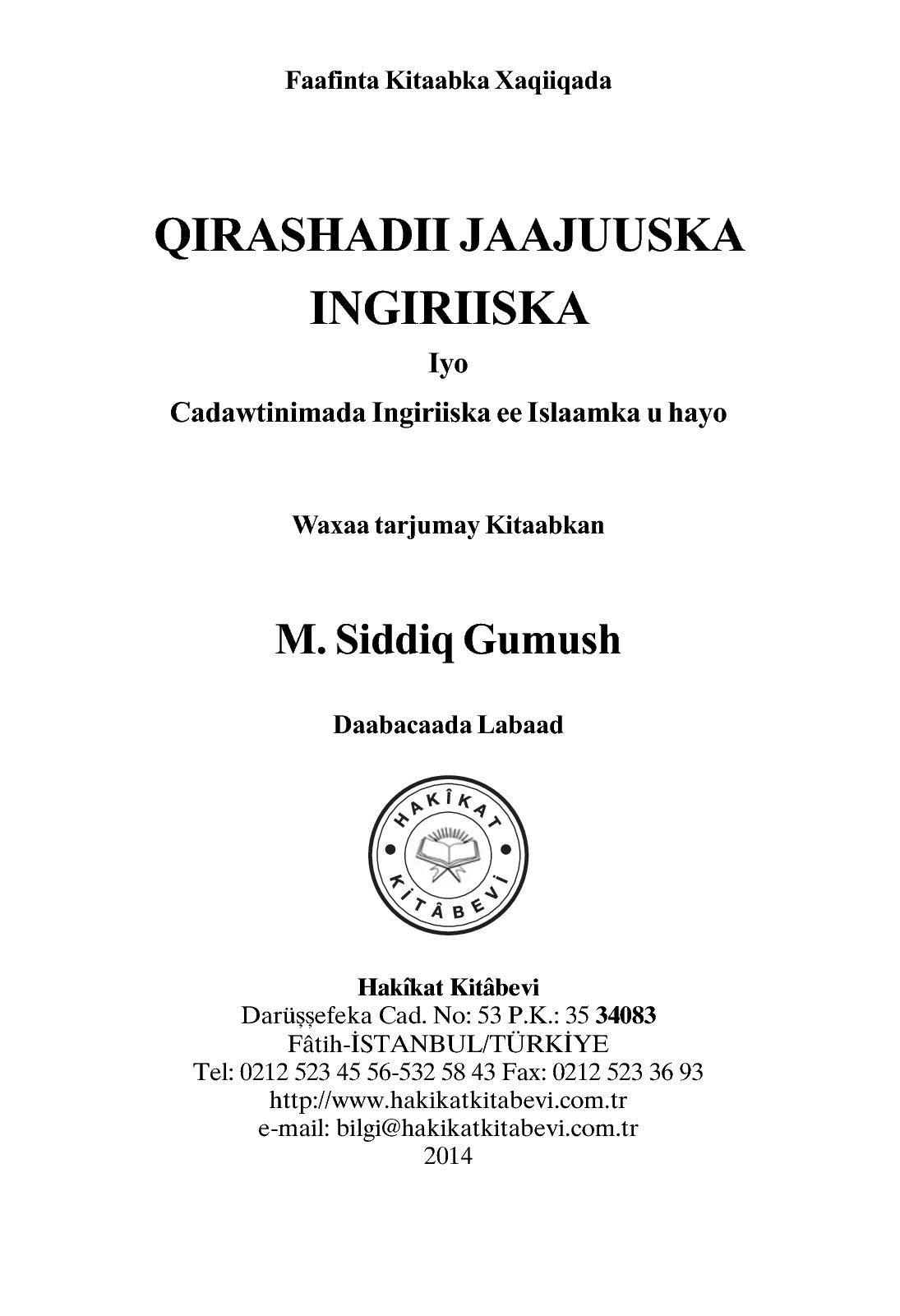 Calaméo - QIRASHADII JAAJUUSKA INGIRIISKA Iyo Cadawtinimada