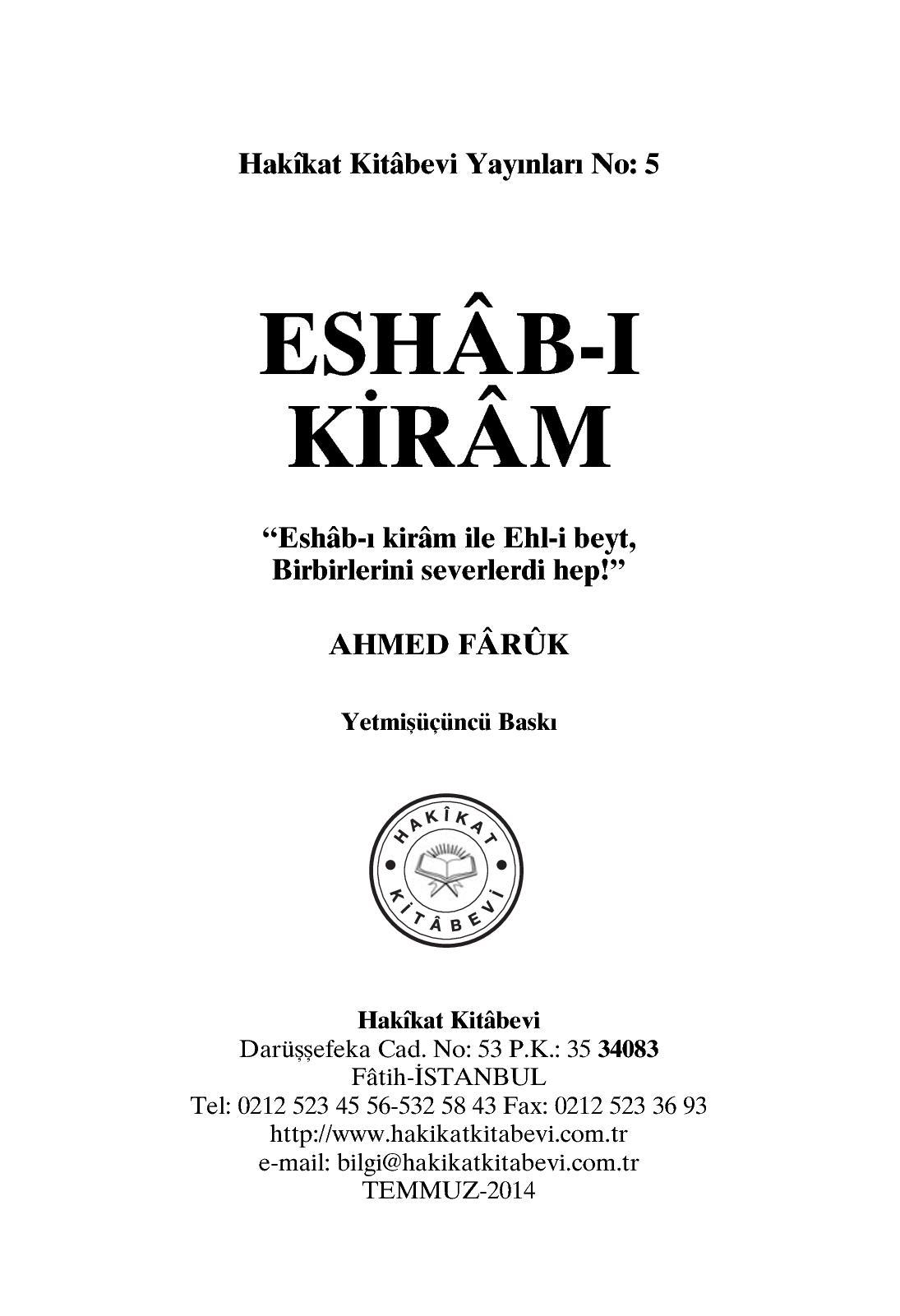 Calameo Eshab I Kiram Ahmed Faruk