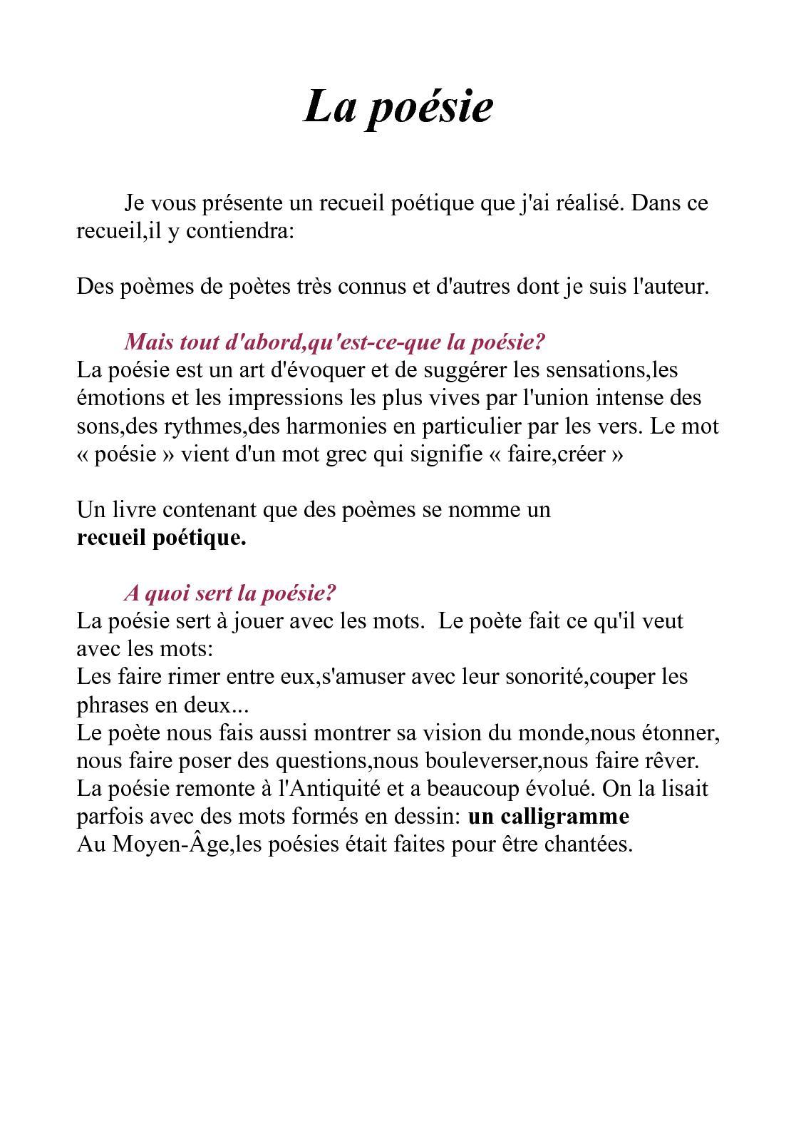 Calaméo La Poésie