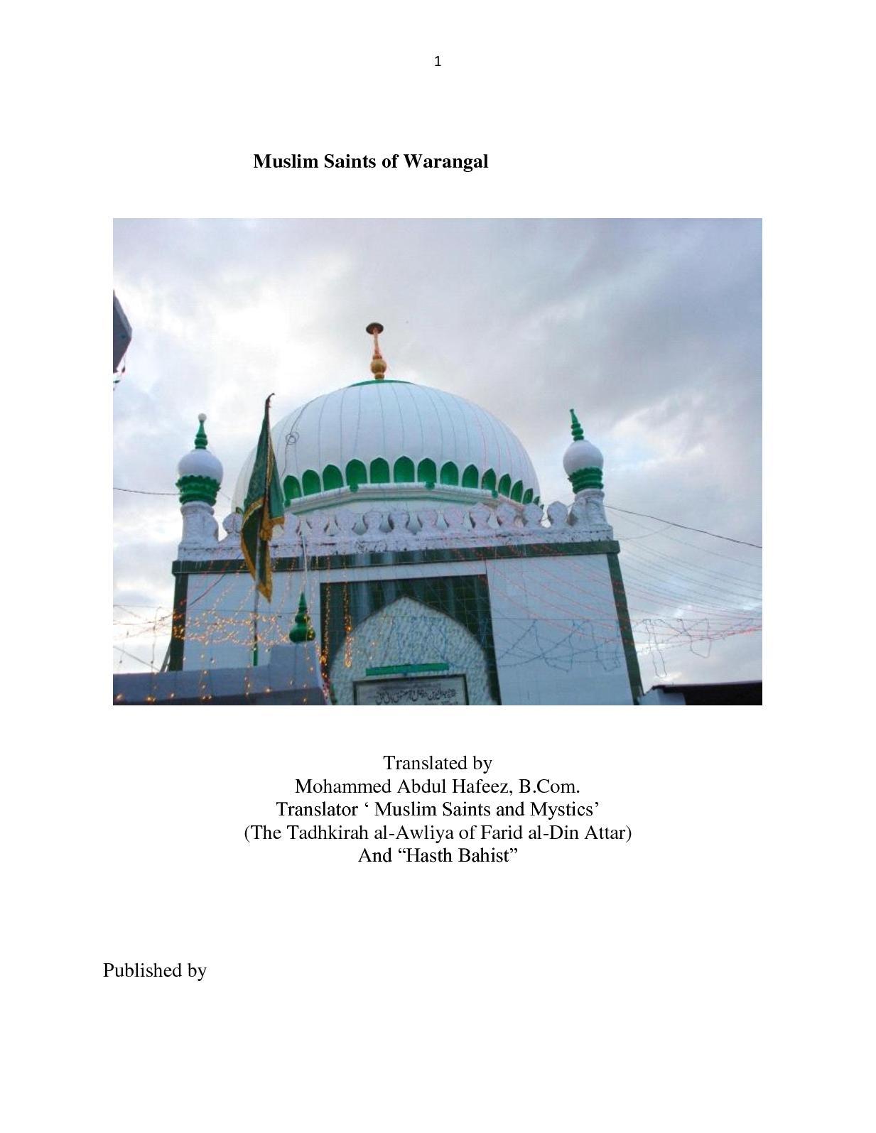 Calaméo - Muslim Saints Of Warangal