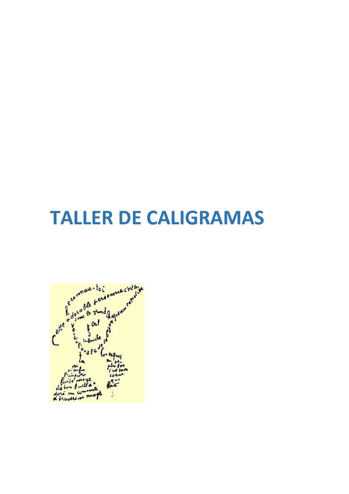 Calaméo Taller De Caligramas