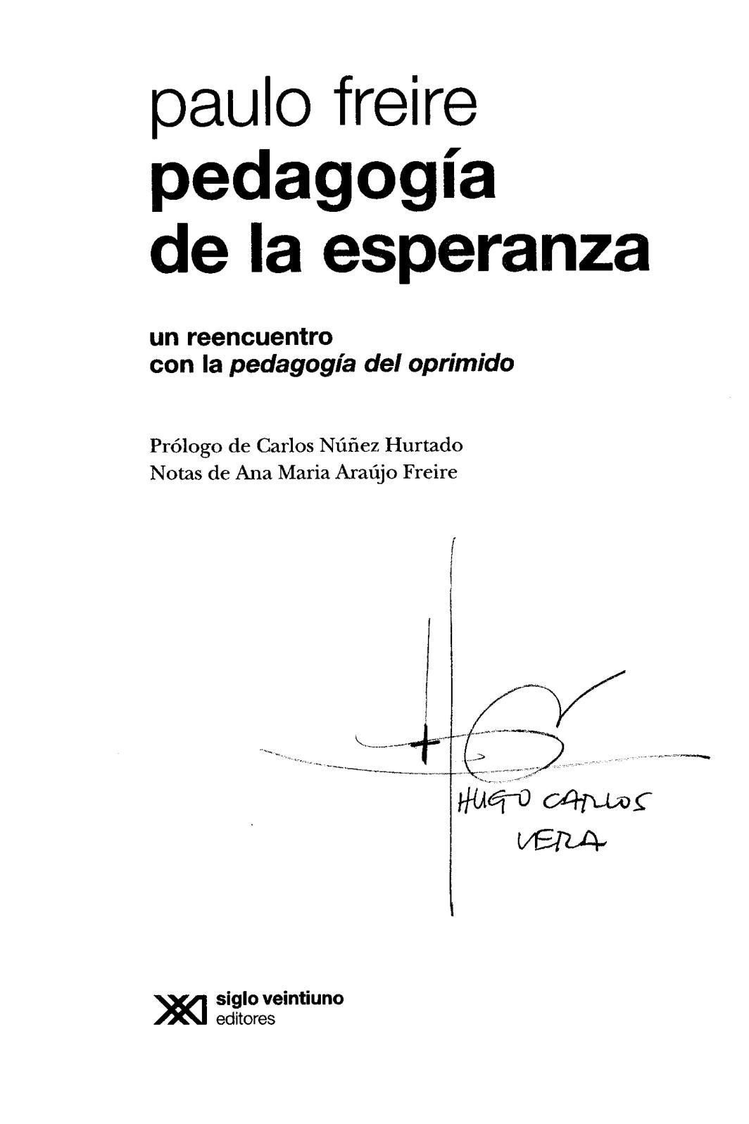Calaméo Pedagogia De La Esperanza