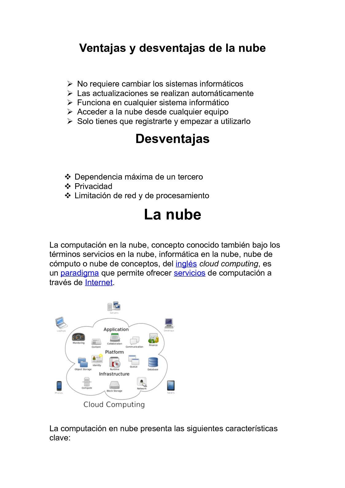 Calameo Ventajas Y Desventajas De La Nube