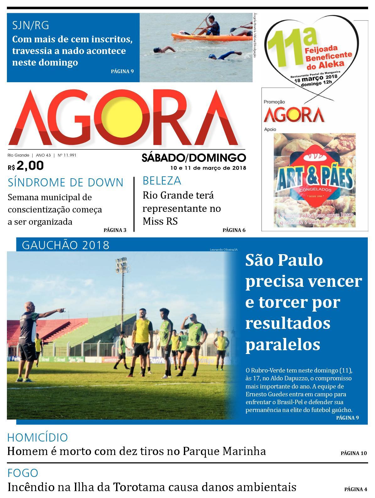 Calaméo - Jornal Agora - Edição 11991 - 10 e 11 de Março de 2018 8af077953e876