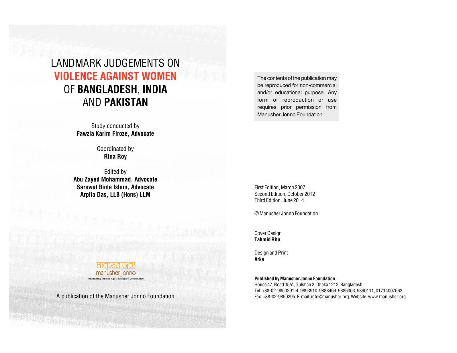 Calaméo - Landmark Judgements On Of Bangladesh, India And