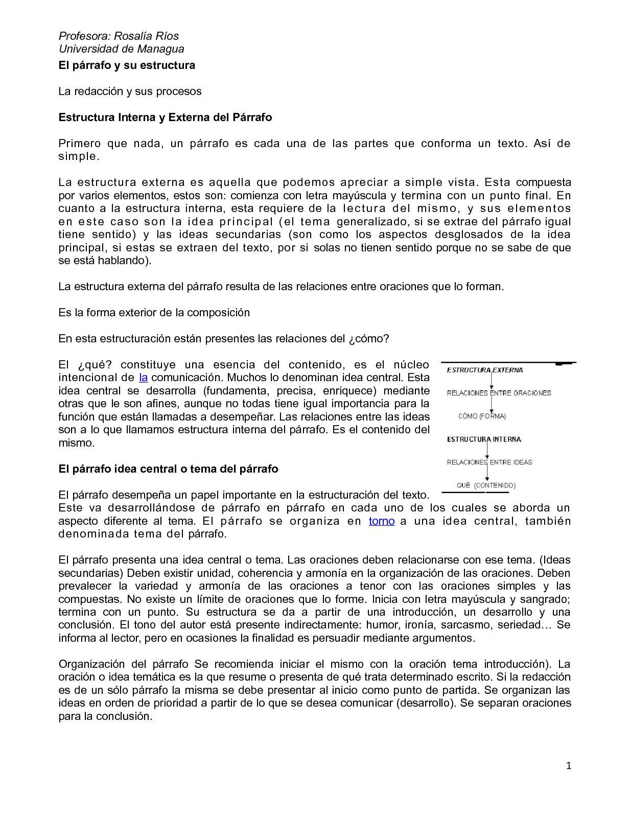 Calaméo El Parrafo Y Su Estructura 1 1