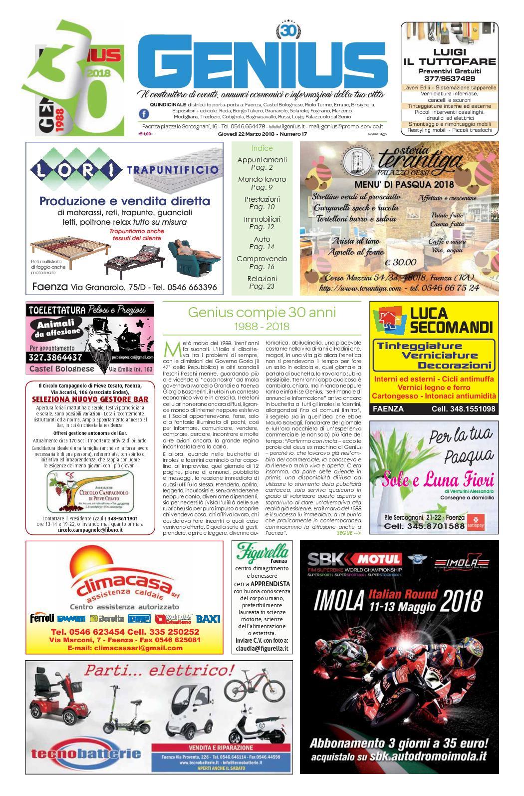 Casa Del Materasso Lugo calaméo - num 17 del 22 marzo 2018
