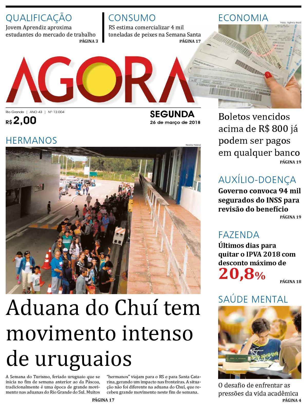 25b8b7665eb Calaméo - Jornal Agora - Edição 12004 - 26 de Março de 2018