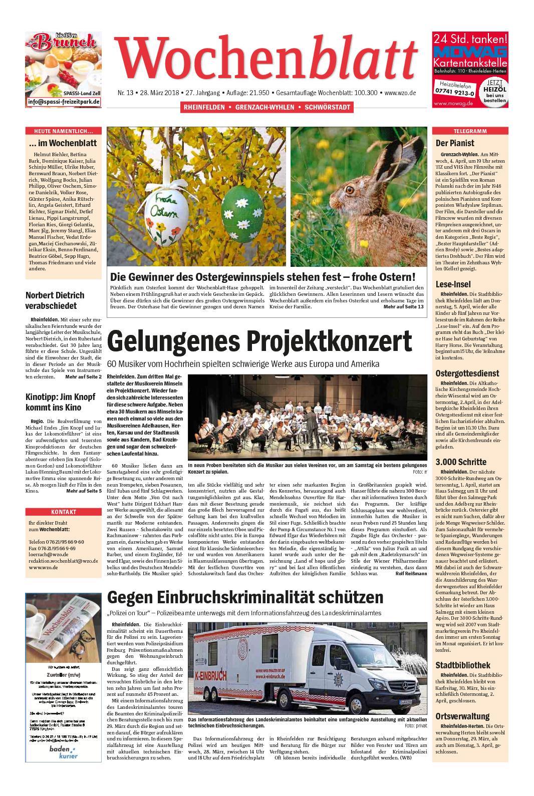 Calameo Wochenblatt Rheinfelden