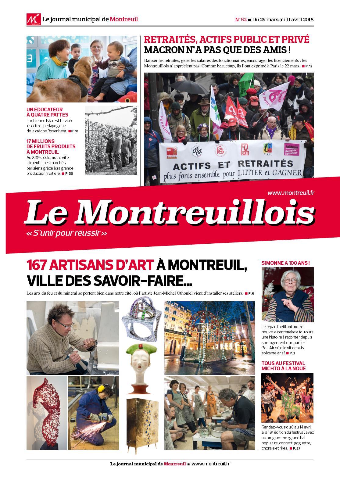 58ee74e5e80 Calaméo - Le Montreuillois n°52 - du 29 mars au 11 avril 2018