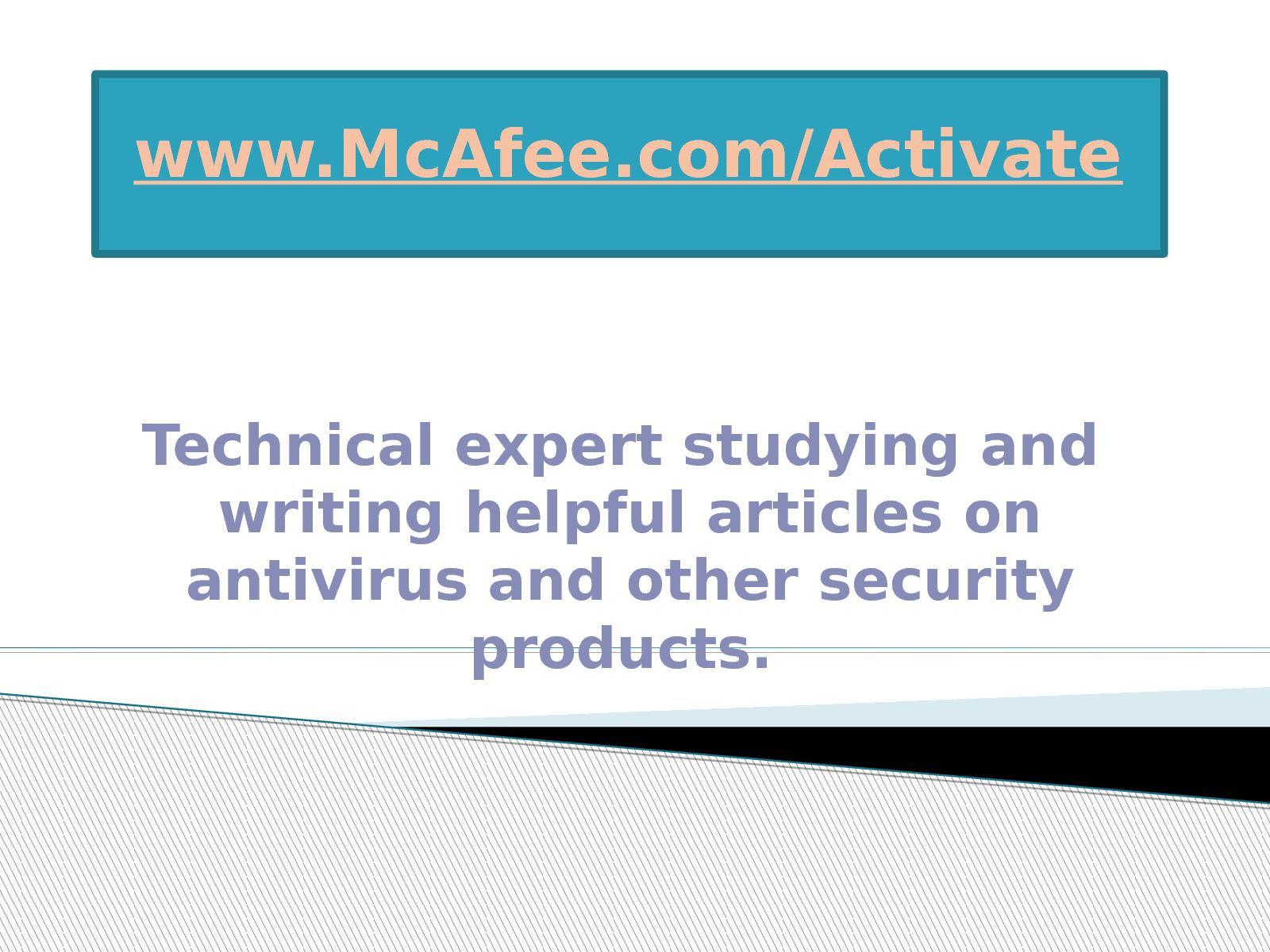 Calaméo - Visit www mcafee com/activate for instant McAfee