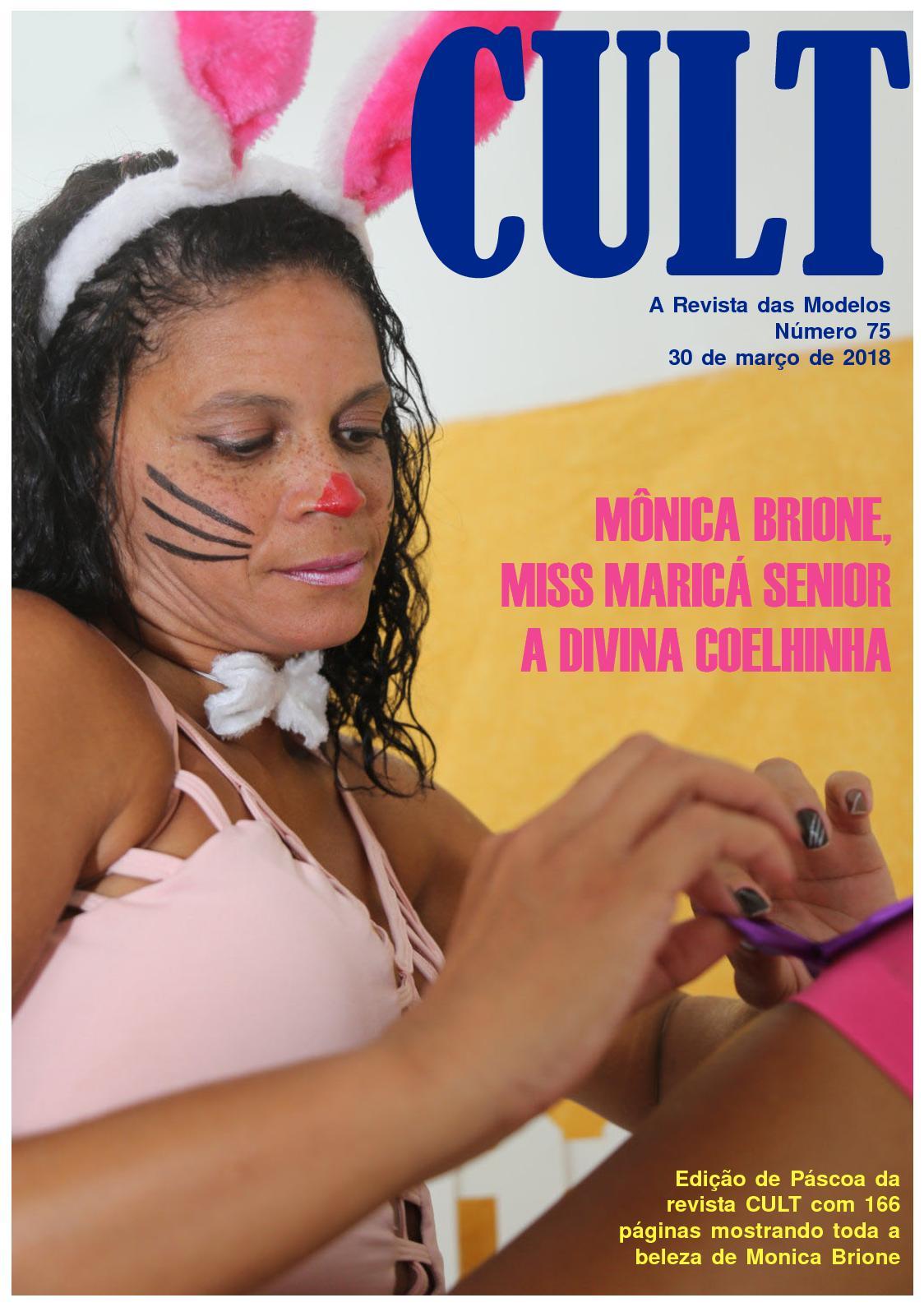 CULT 75, a revista das modelos - MONICA BRIONE, a divina coelhinha
